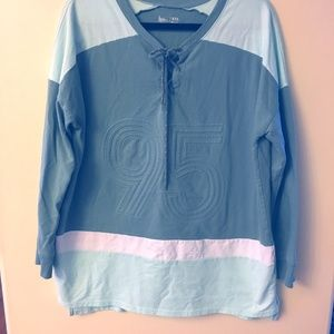 Flirtitude Active Sweatshirt XXL  two tone green